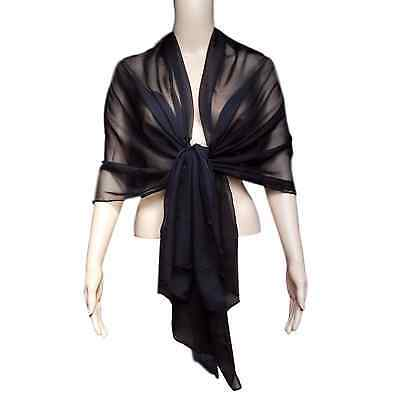Ladies CHIFFON Shawl Scarves Wraps WEDDING Party Cover Up BALL Mum of The Bride