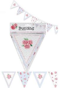 Stoff Fahnentuch Hochzeit Vintage Shabby Chic Handgefertigt Blumen Spitze 3m