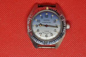 Mint-Vintage-Militaer-Soviet-Vostok-Amphibian-Antimagnetische-Watch-2409a-serviced