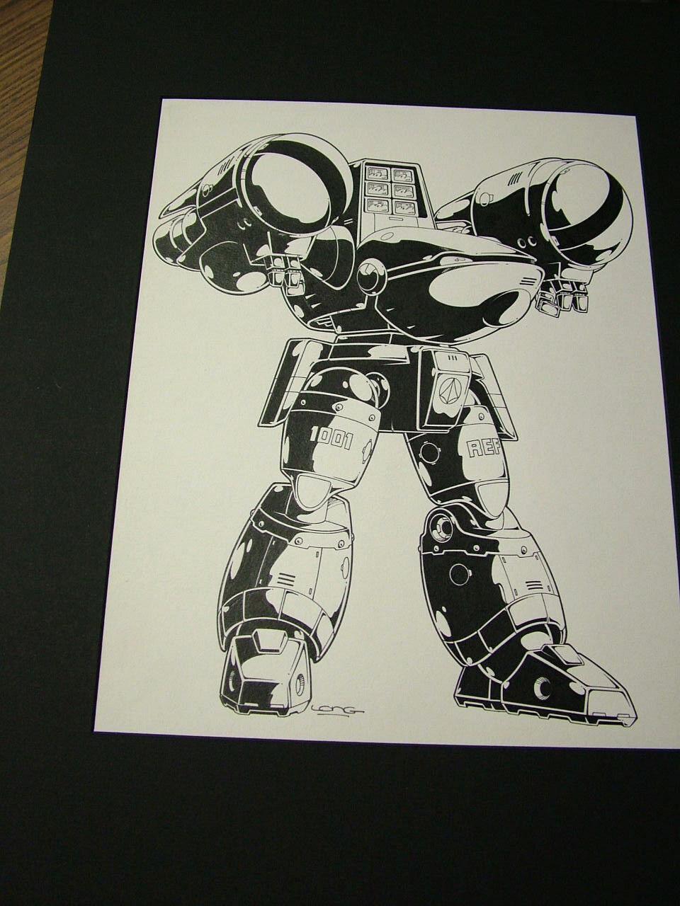 Robotech Sentinels  Kevin Long originalkonst, viktig - Mecha 4