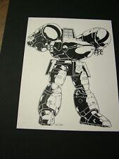 Robotech Sentinels: Kevin Long original art, matted - Mecha 4