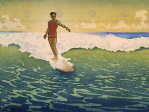 TRAVEL-TOURISM-SPORT-SURF-HAWAII-WAVE-SEA-USA-NEW-FINE-ART-PRINT-POSTER-CC4453