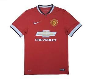 Manchester United 2014-15 ORIGINALE Maglietta (eccellente) S Soccer Jersey