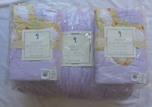 Pottery Barn Kids Lindsey Quilt Full Queen Lavender Purple