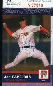 Jonathan-Papelbon-Jsa-Coa-Autograph-2005-Red-Sox-Rookie-Authentic-Hand-Signed