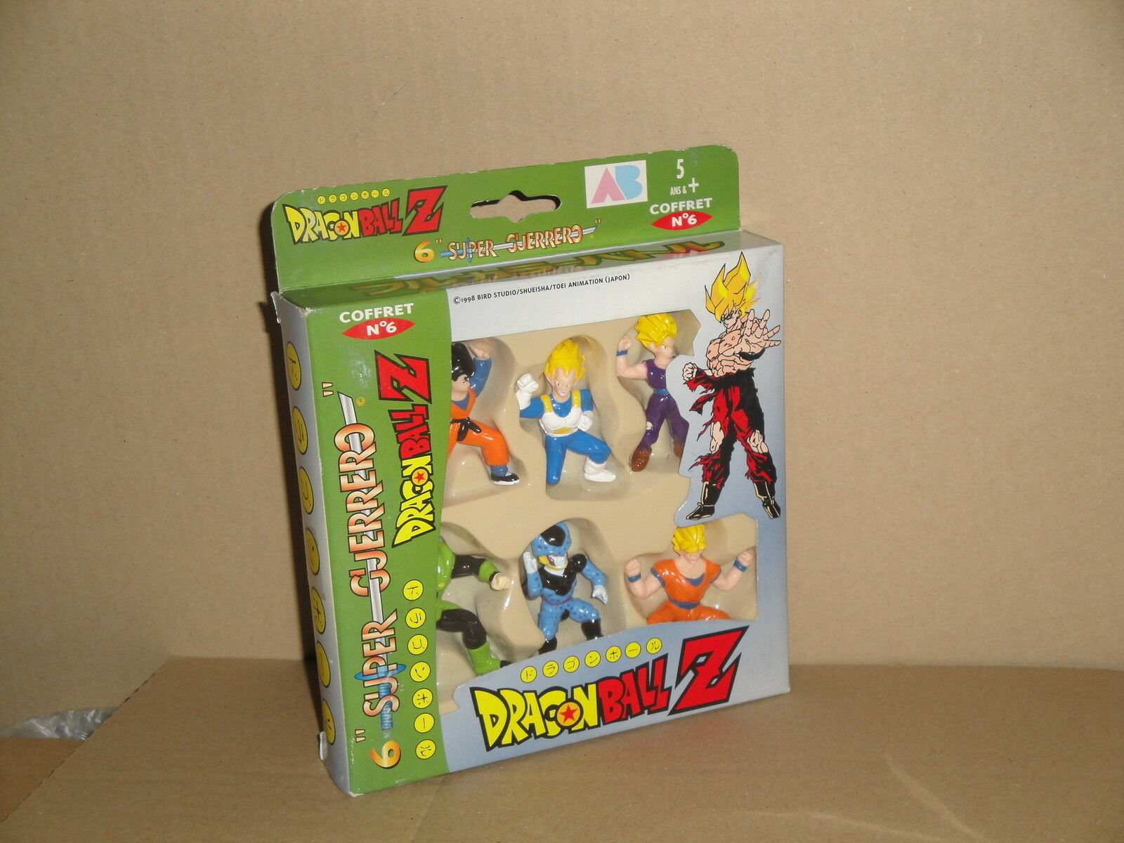 DRAGON BALL Z SUPER GUERERO BY AB TOYS COFFRET   6 WHEN SIX FIGURES NEW IN BOX