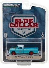 1:64 GreenLight *BLUE COLLAR R2*  Blue 1967 Dodge D-200 Pickup Truck  NIP!
