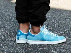 6a5d5c96845d MENS ADIDAS PW HU HOLI PHARRELL WILLIAMS STAN SMITH BLUE CLOUD ...