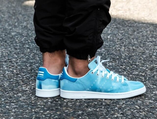 3c8e94fa9693b MENS ADIDAS PW HU HOLI PHARRELL WILLIAMS STAN SMITH BLUE CLOUD ATHLETIC  SHOES