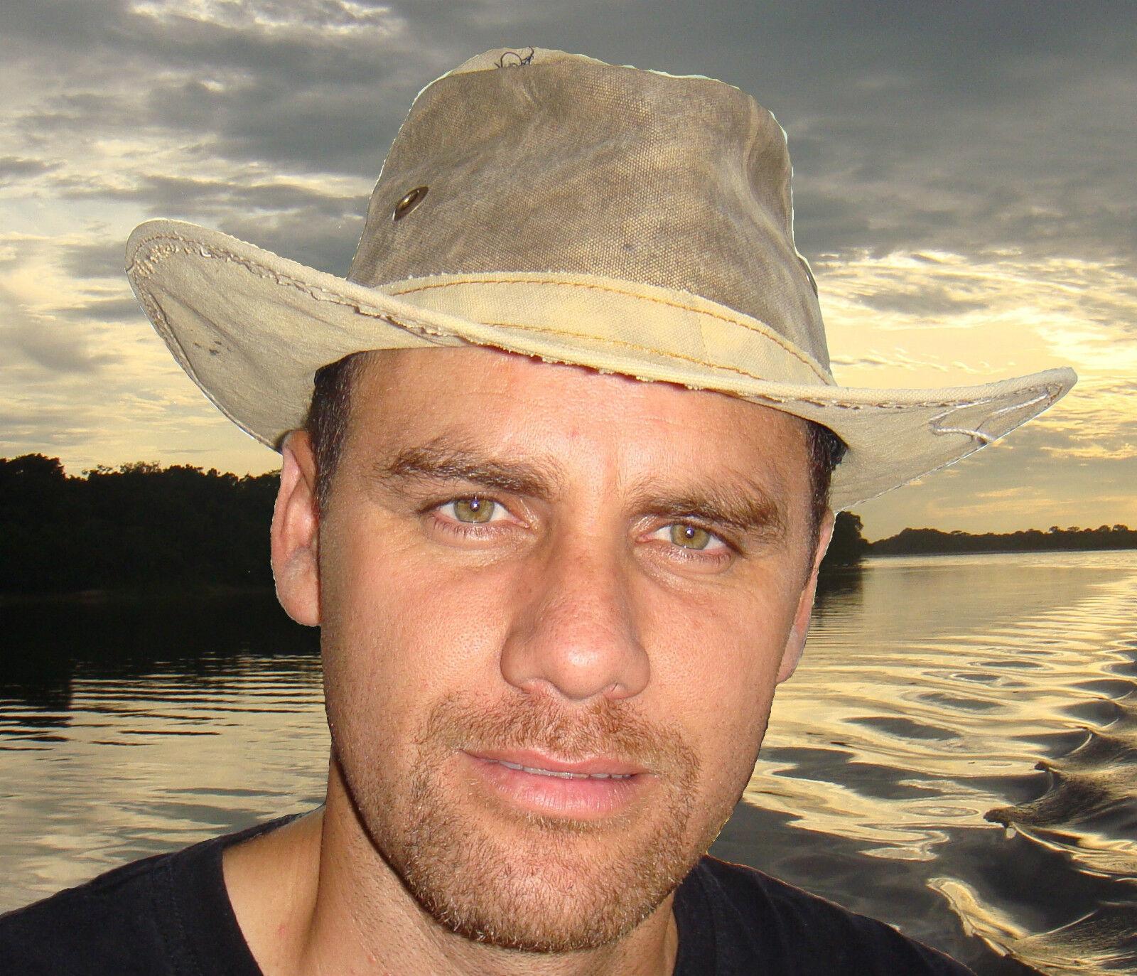 Herren wide brim hat - daSie wide brim canvas hat from Brazil - Recycled material