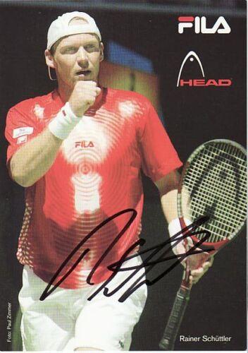 Autogramm Rainer Schüttler Tennis Tennisprofi Davis Cup FILA Head handsigniert #