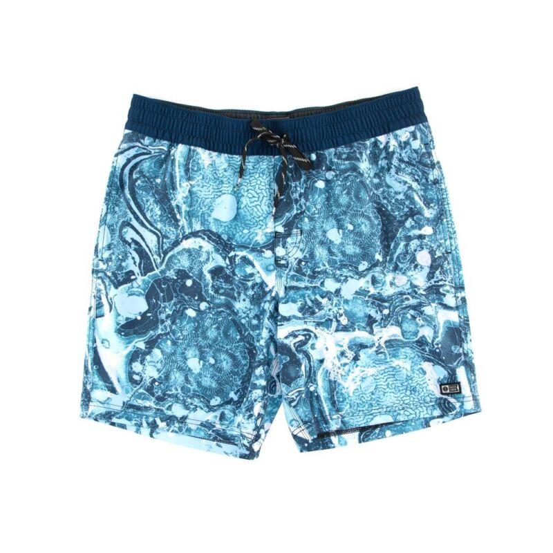 Da Uomo Pierre Cardin Blu Navy Blue AOP Nuoto Swim Surf al Ginocchio Pantaloncini Da Spiaggia