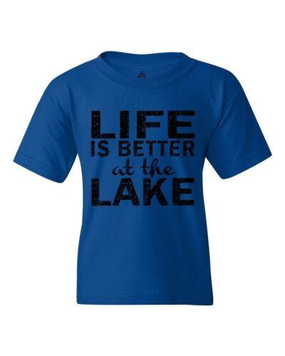 Black Life is Better at the Lake Youth/'s T-Shirt Camping Hiking Shirts