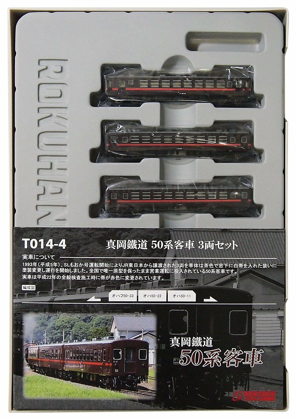 Rokuhan T014-4 Moka Railway Series 50 Passenger Car 3 Cars Set - Z