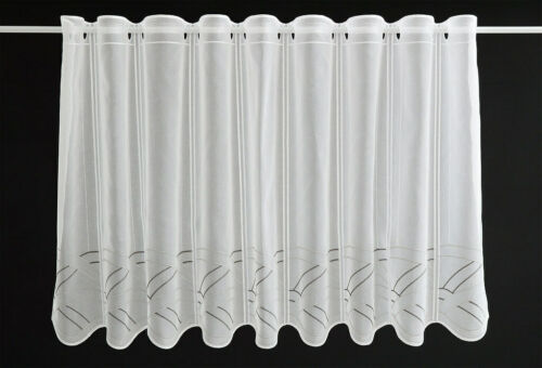 Scheibengardine bestickt Bistrogardine Gardine Panneaux Küche 30//45//60 hoch