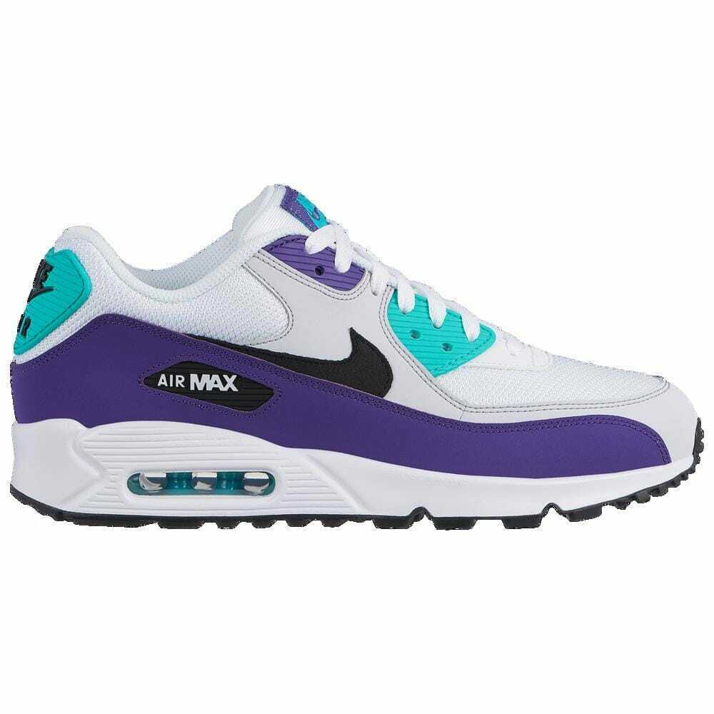Nike Air Max 90 White Black Hyper Jade Court Purple Men's J1285103