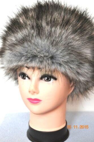 Mütze Pelzmütze Damen Wintermütze Faux Fur Hat Fusch Premium Grau Damen Mutze