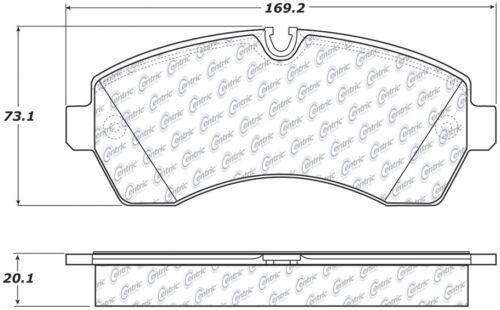 Disc Brake Pad Set-C-TEK Metallic Brake Pads Front,Rear Centric 102.12680