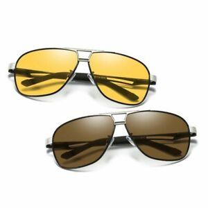 Mens-Polarized-Transition-Photochromic-Sunglasses-Driving-Pilot-Sport-UV-K486