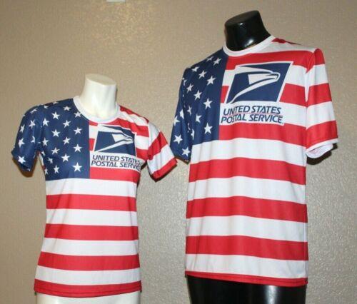 FLAG SIZE LARGE MEN USPS POST OFFICE T-SHIRT LOGO ON FRONT /& BACK USPS