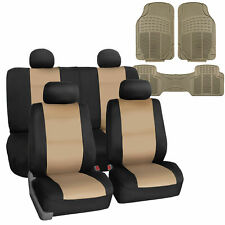 Neoprene Car Seat Covers Beige For Auto Suv Car Van With Floor Mats Fits Jeep Cherokee