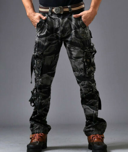 Military Men/'s Camo Casual Multiple Pockets Outdoor Overalls Long Pants Trousers