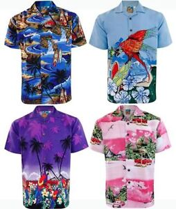 Fancy Summer Tropical Palm Tree Print Beach Party Shirt Holiday Hawaiian Mens SP