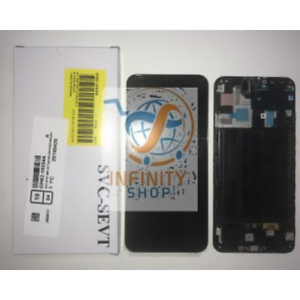DISPLAY LCD TOUCH SCREEN VETRO ORIGINALE AMOLED SAMSUNG A50 SM-A505F NERO + KIT