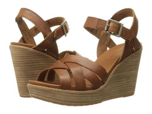 Women/'s Timberland Danforth Woven Wedge Sandal Brown Tan A14NR
