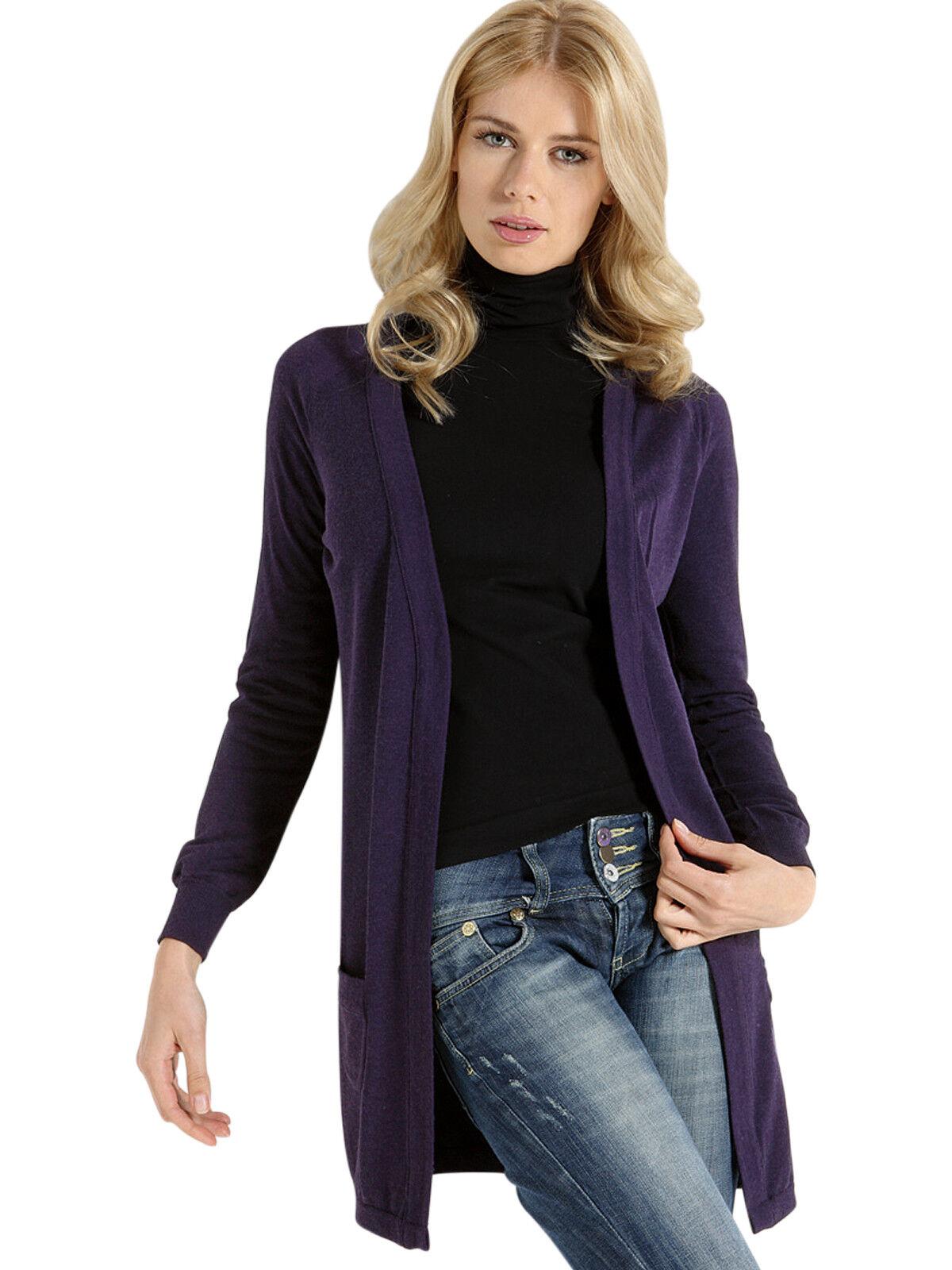 Cardigan women in lana Maglia manica lunga Fashion Sensì Made in
