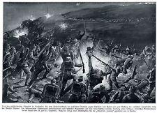 Kriegsmaler * War Artist * C. BARBER Nachtangriff in Nordpolen 1914