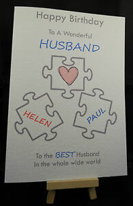 Personalised handmade happy birthday card husbandboyfriendwife image is loading personalised handmade happy birthday card husband boyfriend wife altavistaventures Choice Image