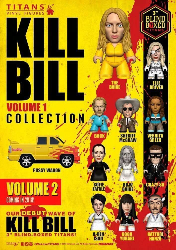Kill Bill Figurine Statuetta Volume 1 Collezione Titani Display 8 cm  18  Mini