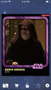 Topps-Star-Wars-Digital-Card-Trader-Pink-Darth-Sidious-2018-Anniversary-Insert