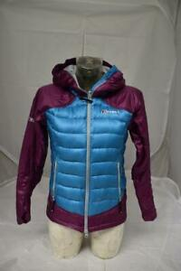 Berghaus Extrem MONT ASGARD Violet & Bleu Down Feather 700 Veste UK 8 Lot CT2