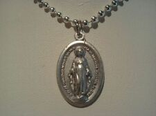 ~BLESSED VIRGIN MARY MEDALLION~WITH 20 INCH SILVER PLATE CHAIN~NEW~CATHOLIC~