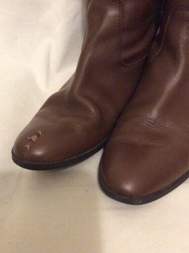taille Zara en 41 Bottes marron cuir lFK1cTJ