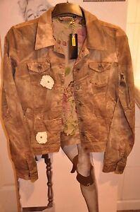 décor femme S de manteau style de pour rinascimento Veste à M militaire fleurs nUH0wq6nRv