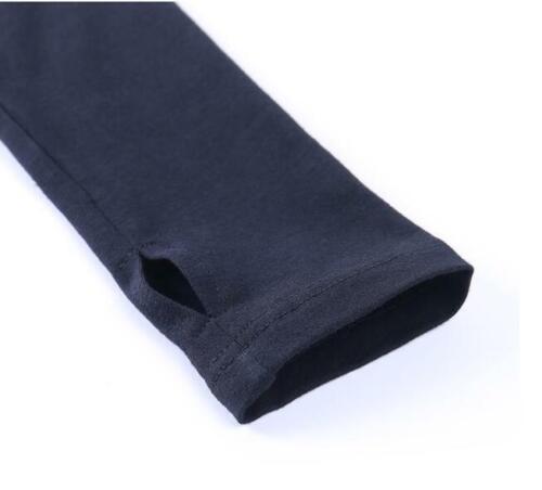 Womens Gothic Mock Neck Letter Print Long Sleeves Slim Fit T-Shirt Crop Top SKGB