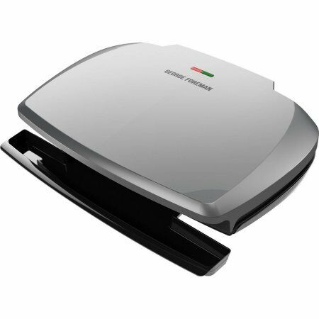 George Foreman 144 sq in 9 Serving Classic-Plate Grill an W