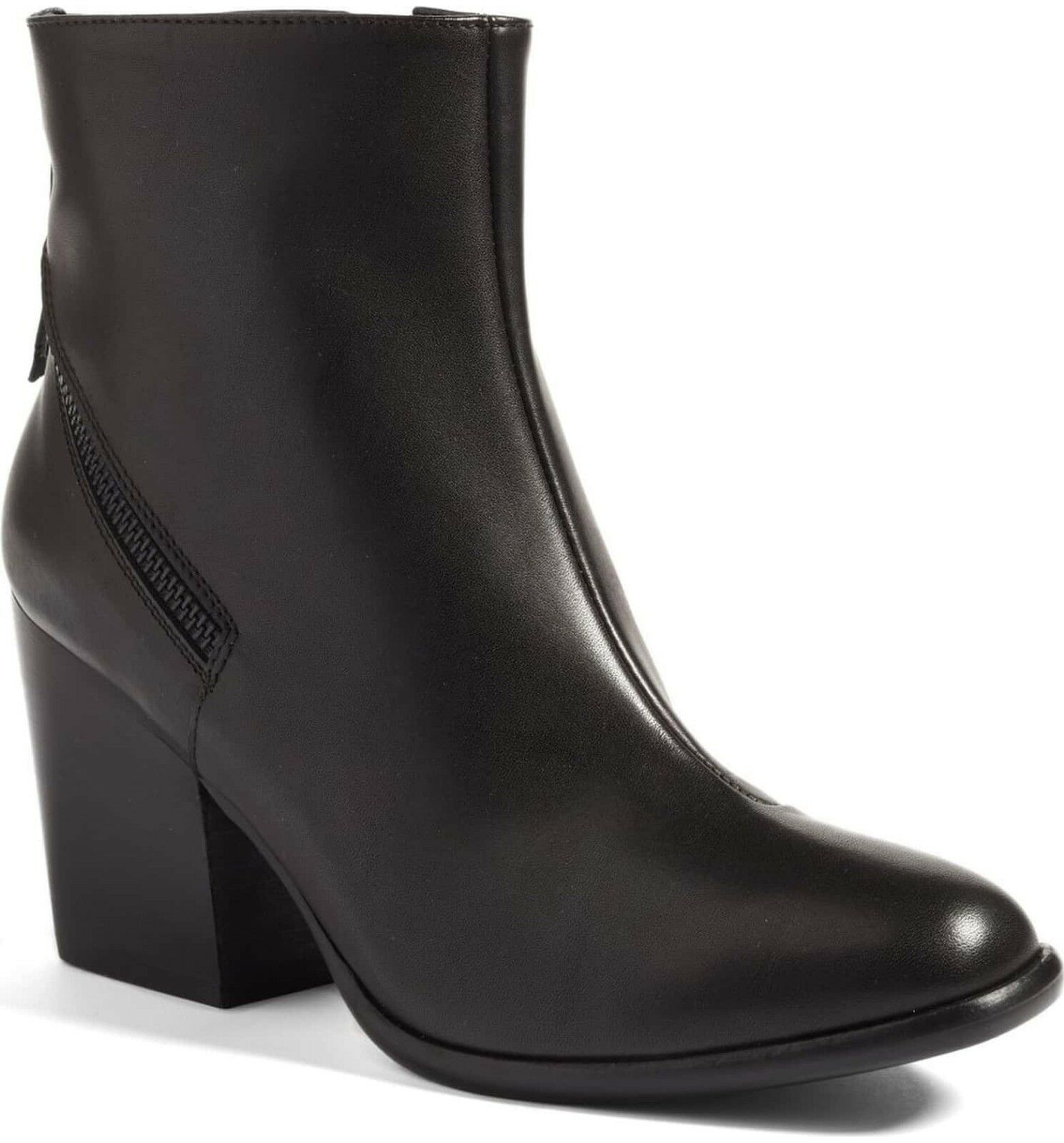 Womens Alberto Fermani Boots Viva Black Leather Ankle Booties 39.5 EU 9.5  485