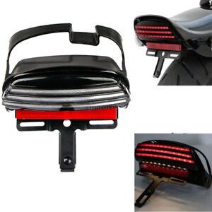 Moto-Feux-Arriere-Tri-Bar-Fender-Tail-LED-Light-Support-pour-Harley-street-glide
