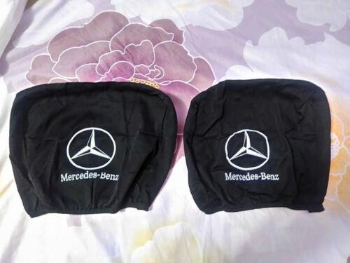 2 Negro Reposacabezas Funda para Mercedes Benz Reposacabezas Cubierta