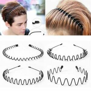 Fashion-Men-Women-Girls-Sports-Metal-Wave-HOOP-Headband-Hair-Band-Unisex