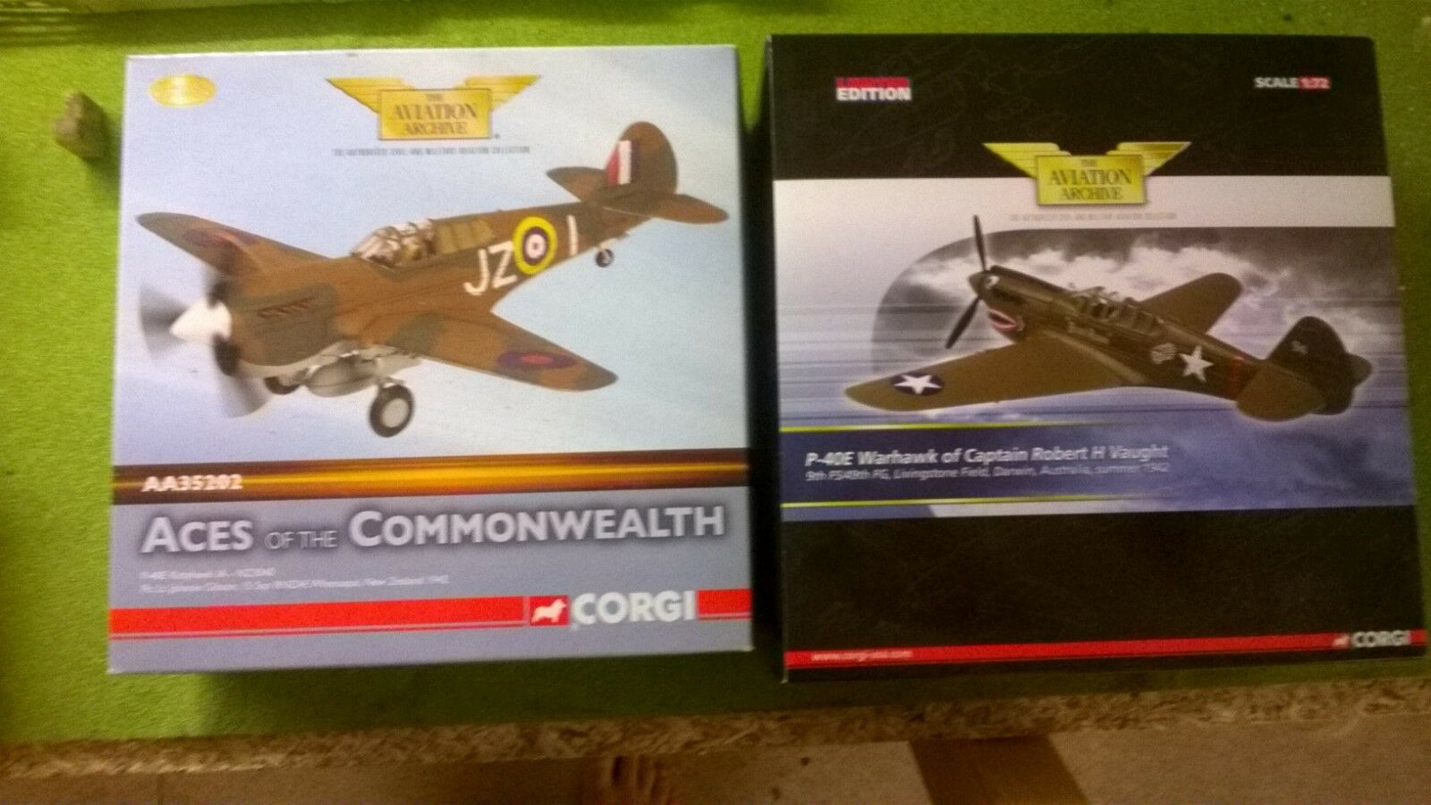 Corgi Die Cast Military Aircraft Models - P-40E Kittyhawk  WWII
