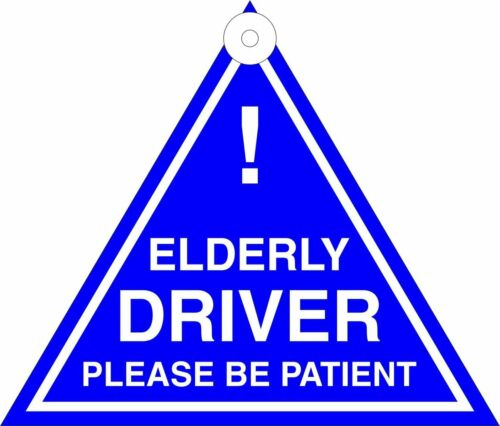 Elderly Driver Triangle Sign Car Window Sucker TS03