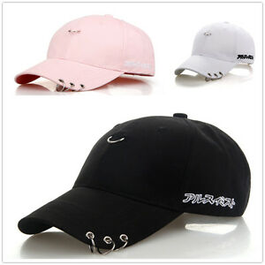 Snapback Hats BTS Jimin Fashion Iron Ring Hats Adjustable Baseball ... c24d881dd5f5