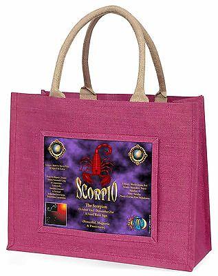 Skorpion Sternzeichen of der Tierkreis Große Rosa Einkaufstasche