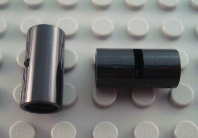 New LEGO Lot of 2 Black Technic Pin Connectors with Slit