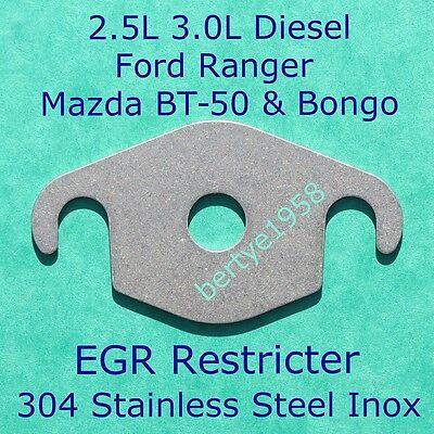 MAZDA B2500 BT-50 BONGO FORD RANGER EASY FIT EGR BLANKING PLATE 3MM STAINLESS NS